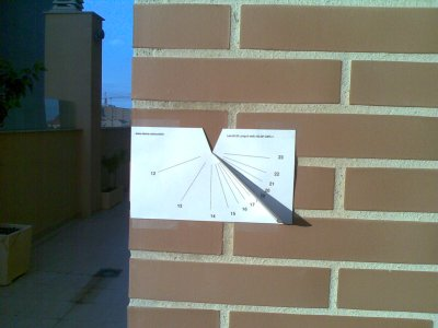 sundial cut out paper
